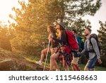 shot of a group of friends... | Shutterstock . vector #1115468663