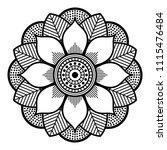 vector henna tattoo style  hand ... | Shutterstock .eps vector #1115476484