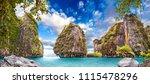scenic phuket landscape....   Shutterstock . vector #1115478296