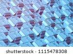abstract cubes background. 3d... | Shutterstock . vector #1115478308