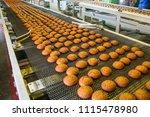 pastry on conveyor line  food... | Shutterstock . vector #1115478980