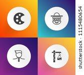 modern  simple vector icon set... | Shutterstock .eps vector #1115480654