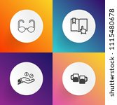 modern  simple vector icon set... | Shutterstock .eps vector #1115480678