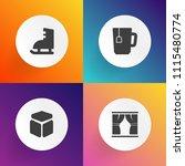 modern  simple vector icon set... | Shutterstock .eps vector #1115480774