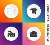 modern  simple vector icon set... | Shutterstock .eps vector #1115480864