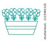 degraded line tropical flowers...   Shutterstock .eps vector #1115481110