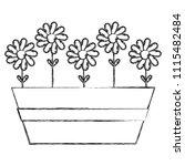grunge natural flowers exotic... | Shutterstock .eps vector #1115482484