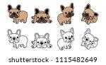 dog vector french bulldog logo... | Shutterstock .eps vector #1115482649