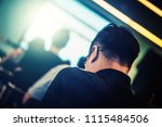 blur background of happy and... | Shutterstock . vector #1115484506