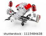 3d car chassis with motor and...   Shutterstock . vector #1115484638