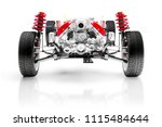 3d car chassis with motor ...   Shutterstock . vector #1115484644