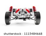3d car chassis with motor ...   Shutterstock . vector #1115484668