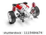 3d car chassis with motor ...   Shutterstock . vector #1115484674