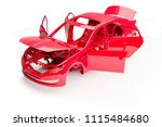 Stock photo  d car frame body on white background 1115484680