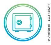 degraded line strong box... | Shutterstock .eps vector #1115485244