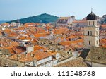 view on old center of dubrovnik ... | Shutterstock . vector #111548768