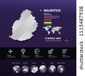 mauritius map vector... | Shutterstock .eps vector #1115487938