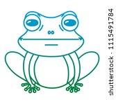 degraded line cute exotic frog... | Shutterstock .eps vector #1115491784