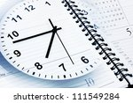 clock face  calendar and diary... | Shutterstock . vector #111549284