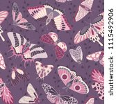 seamless hand painted pattern...   Shutterstock .eps vector #1115492906