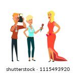 celebrity and journalists....   Shutterstock .eps vector #1115493920