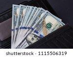 cash of hundred dollar bills ... | Shutterstock . vector #1115506319