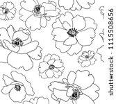seamless background  poppy... | Shutterstock .eps vector #1115508656
