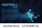 football of the particles... | Shutterstock .eps vector #1115508716
