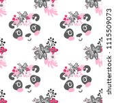 seamless pattern with cartoon... | Shutterstock .eps vector #1115509073