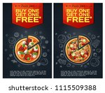 advert fastfood flyer with...   Shutterstock .eps vector #1115509388