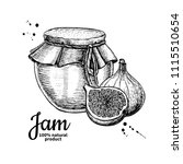 fig jam glass jar vector... | Shutterstock .eps vector #1115510654