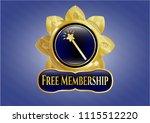 golden emblem or badge with... | Shutterstock .eps vector #1115512220