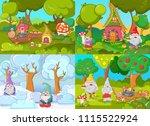 gnome dwarf as leprechaun and...   Shutterstock .eps vector #1115522924