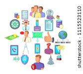 thriftiness icons set. cartoon...   Shutterstock .eps vector #1115523110