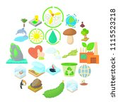pure nature icons set. cartoon...   Shutterstock .eps vector #1115523218