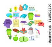 recycling icons set. cartoon...   Shutterstock .eps vector #1115523320