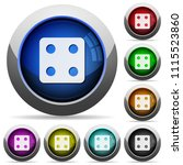 dice four icons in round glossy ...   Shutterstock .eps vector #1115523860