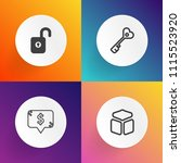 modern  simple vector icon set...   Shutterstock .eps vector #1115523920
