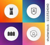 modern  simple vector icon set... | Shutterstock .eps vector #1115524040