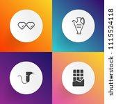 modern  simple vector icon set... | Shutterstock .eps vector #1115524118