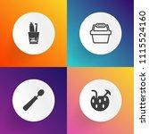 modern  simple vector icon set... | Shutterstock .eps vector #1115524160