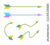 set of vector arrows in flat... | Shutterstock .eps vector #1115525000