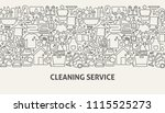 cleaning service banner concept.... | Shutterstock .eps vector #1115525273