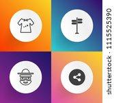 modern  simple vector icon set...   Shutterstock .eps vector #1115525390