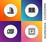 modern  simple vector icon set... | Shutterstock .eps vector #1115525444
