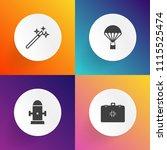 modern  simple vector icon set... | Shutterstock .eps vector #1115525474