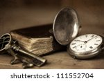 vintage grunge still life with... | Shutterstock . vector #111552704