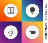 modern  simple vector icon set... | Shutterstock .eps vector #1115528468