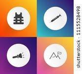 modern  simple vector icon set... | Shutterstock .eps vector #1115528498