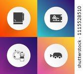 modern  simple vector icon set... | Shutterstock .eps vector #1115528510